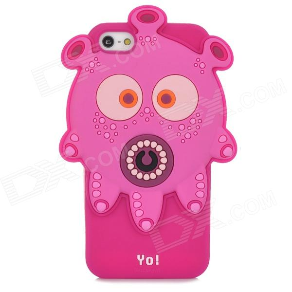 Ounuo Cool Monster Yo Style Protective Silicone Case for Iphone 5 - Deep Pink