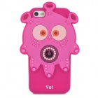 "Ounuo Cool Monster ""Yo"" Style Protective Silicone Case for Iphone 5 - Deep Pink"
