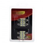 1w 24lm 6000k Festoon 36mm White Light 5050 SMD LED License Plate Lamp / Reading Lamp (4 PCS)