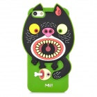 "Ounuo Cool Monster ""Mi"" Style Protective Silicone Case for Iphone 5 - Green + Black"