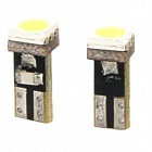 T5 0.5W 8lm 6000K 1-SMD 5050 LED White Light Instrument Lamp - White + Yellow