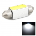 2W 180lm 6500K Festoon 36mm White Light COB LED Party Hat for Car (10~15V)