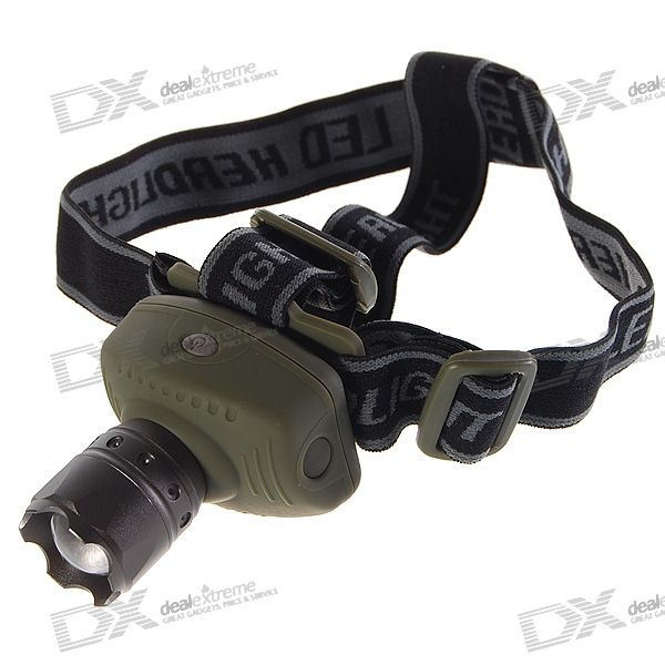 Flood-to-Throw Zooming 3-Mode LED Headlamp w/ Cree P4-WC (3*AAA)