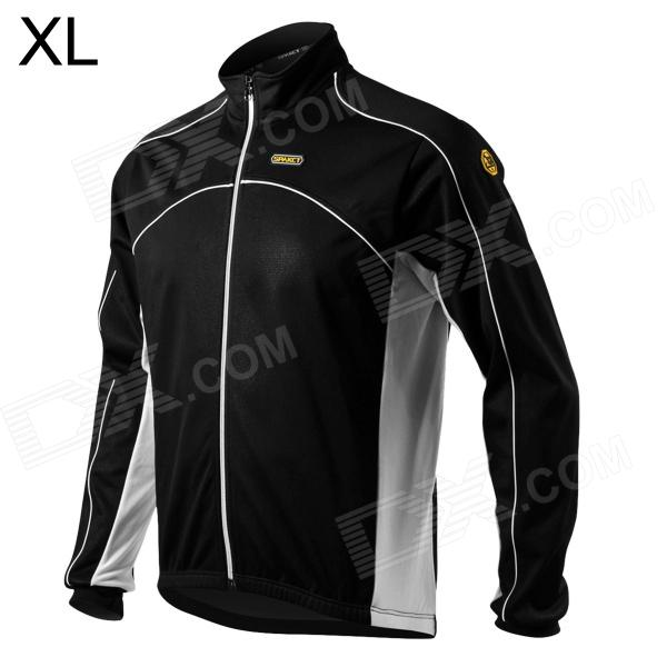 Spakct Men's Stylish Long Sleeve Cycling Jersey - Black (Size XL) spakct cool006 knuckle riding cycling gloves black white red xl 21cm