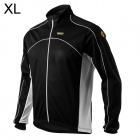 Spakct Men's Stylish Long Sleeve Cycling Jersey - Black (Size XL)