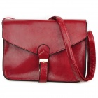 Lady's PU Leather One Shoulder Bag - Red