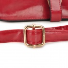 Lady PU Leather Um Ombro - Red