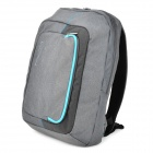 "KINGSONS KINGSONS Matte 600D Backpack Bag for 15.6"" Laptop Computer - Grey + Blue"