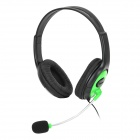 XBOXHS19 2.5mm Headset Headphone for XBOX 360 - Green + Black