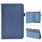Lychee Grain Style Protective PU Leather Case for Asus 180A - Blue