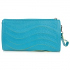 Wave Pattern Fashion Women's Clutch Handbag / One-Shoulder Bag - Blue