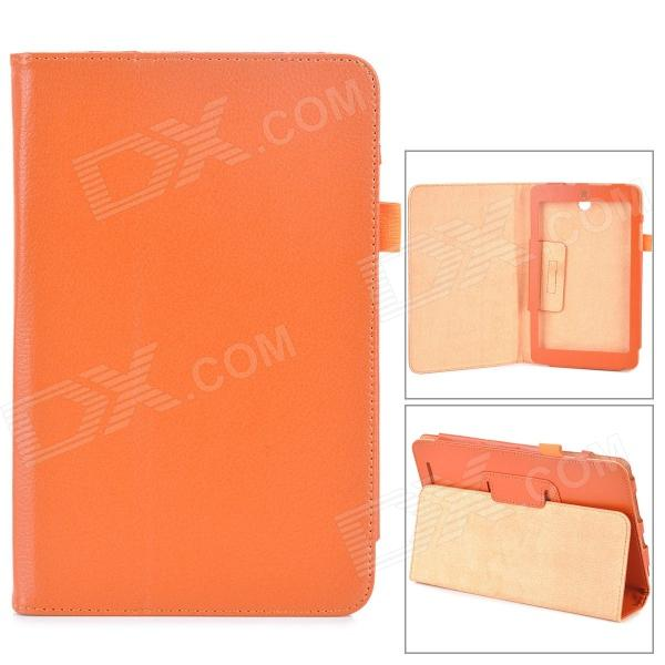 Lychee Grain Style Protective PU Leather Case for Asus 180A - Orange ixgq180n33 igbt330v 180a