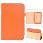 Lychee Grain Style Protective PU Leather Case for Asus 180A - Orange