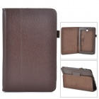 Lychee Grain Style Protective PU Leather Case for Asus 180A - Chocolate