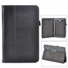 Lychee Grain Style Protective PU Leather Case for Asus 180A - Black