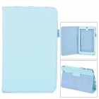 Lychee Grain Style Protective PU Leather Case for Asus 180A - Light Blue