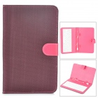 "Micro USB 80-Key Keyboard w/ Checked Style Protective Case for 7"" Tablet PC - Deep Pink + Black"