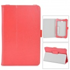 Stylish Protective PU Leather Case for Asus ME372 - Red