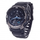 OHSEN AD1308 Men's Sport Analog + Digital Quartz Wrist Watch - Black +Grey (1 x CR-2025)