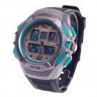 OHSEN AD1301 Men's Sport Analog + Digital Quartz Wrist Watch - Black + Green (1 x CR-2025)