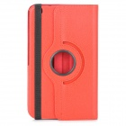 Lychee Grain Style Protective 360 Degree Rotation PU Leather Case for Samsung Tab 3 T310 - Red