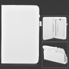 Lychee Grain Style Protective PU Leather Case for Asus 180A - White