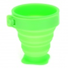 Outdoor Portable Foldable Silicone + Plastic Cup - Green (170ml)