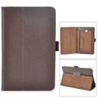Lychee Grain Style PU Leather Case w/ Stylus Pen Holder for Asus FonePad HD 7 ME372CG - Chocolate