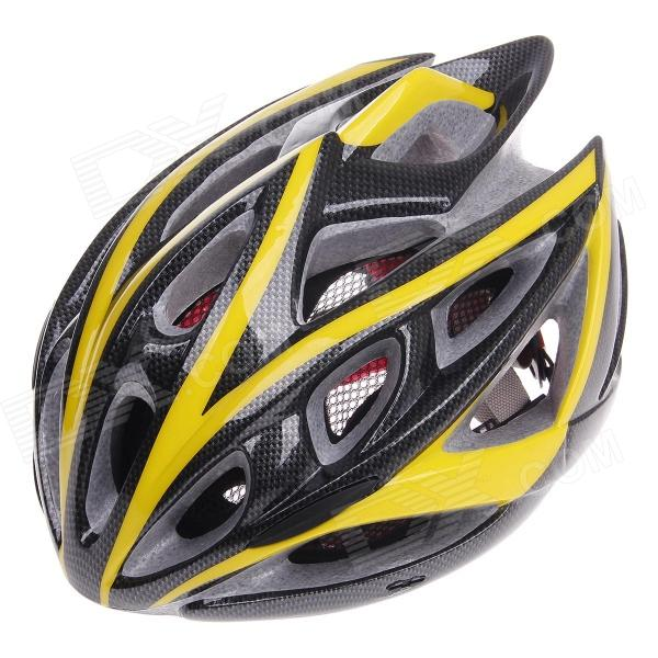 TITANS CG03DG-001 Cool Mountain Bike Cycling Helmet - Yellow + Black (Size-L)