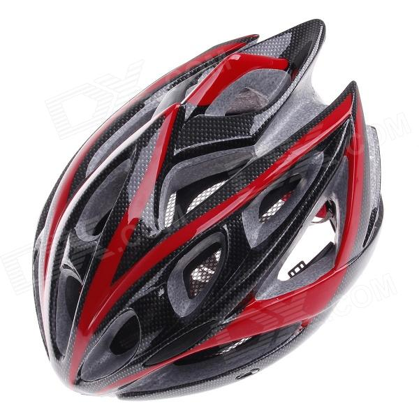 TITANS CG03DG-001 Cool Mountain Bike Cycling Helmet - Black + Red (Size-L)