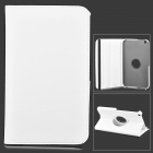 Lychee Grain Style Protective 360 Degree Rotation PU Leather Case for Samsung Tab 3 T310 - White