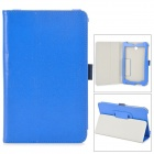 Stylish Protective PU Leather Case for Asus ME372 - Blue
