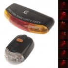 XING CHENG XC-408 35lm 7-LED Red + Yellow Bicycle Safety Turning / Brake Light with Horn - (2 x AA)