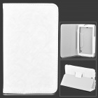 Protective PU Leather + TPU Case for Vido T11 - Ivory White