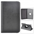 Lychee Grain Style Protective 360 Degree Rotation PU Leather Case for Samsung Tab 3 T310 - Black