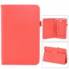 Lychee Grain Style Protective PU Leather Case for Asus 180A - Red
