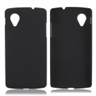 Fashionable Super Thin Protective Glaze PC Back Case for LG Nexus 5 - Black