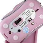Pink USB Wireless Mouse with Charging Dock