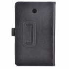 Lichia grãos Estilo PU Leather Case w / Stylus Pen Holder para Asus FonePad HD 7 ME372CG - Preto