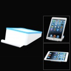Universal Convenient Square PP Holder for Tablet PC / Cellphone - Blue + White
