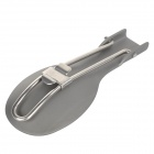 ALOCS TW-103 Outdoor Folding Spoon Camping Tableware - Silver