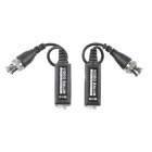 UTP-80 Video Balun CCTV Via CAT-5 Twisted Pair Transceivers - Black (Pair)