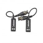 UTP-CT Video Balun CCTV Via CAT-5 Twisted Pair Transceivers - Black (Pair)