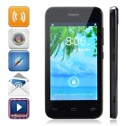 "ET101 Dual-Core Android 4.2 WCDMA Bar Phone w/ 4"", Bluetooth, Camera - Black + Deep Blue"