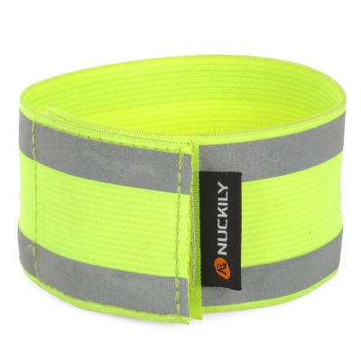 NUCKILY R010 Cycling Bicycle Reflective Leg Belt - Fluorescent Green