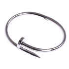 Chic Simple Screw Style Stainless Steel Unisex Bracelet - Silver