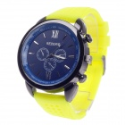 REDEWE RDW-001 Fashionable Men's Quartz Wrist Watch w/ Rubber Wristband - Yellow + Black (1 x LR626)