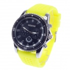 REDEWE RDW-003 Fashionable Men's Quartz Wrist Watch w/ Rubber Wristband - Yellow + Black (1 x LR626)