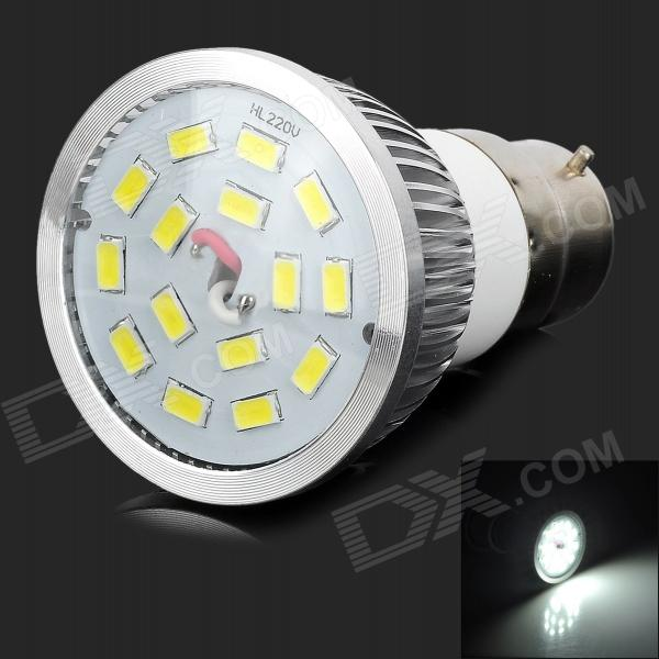 LeXing LX-SD-011 B22 6W 500lm 15-5630 SMD LED White Light Spotlight (85~265V)