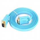 VGA 3 + 6 Male to Male Connecting Video Cable - Blue + Golden (180cm)